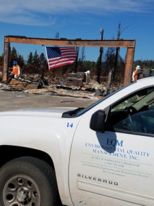 EQM at California Wildfire Cleanup site